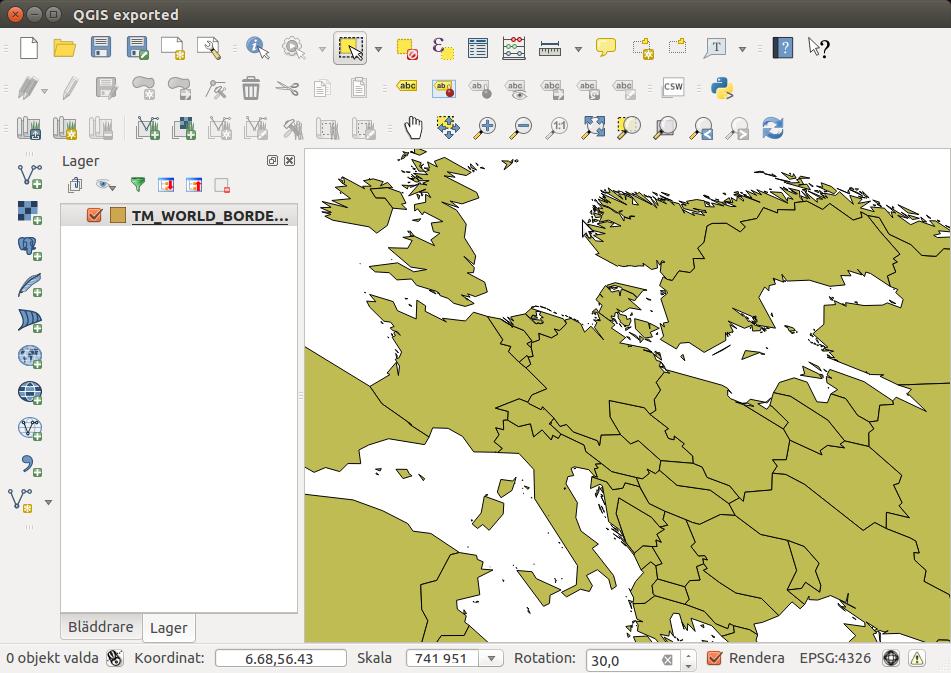 rotate map qgis