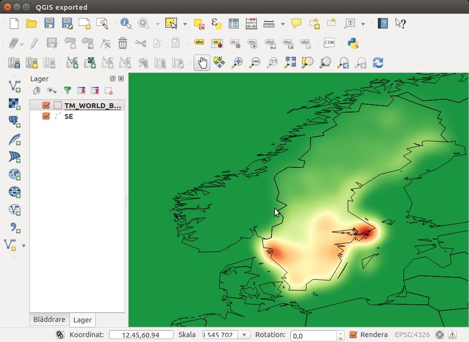 heat map QGIS